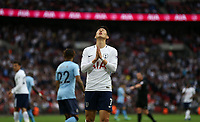 Tottenham Hotspur's Son Heung-Min after a near miss in the first half<br /> <br /> Photographer Rob Newell/CameraSport<br /> <br /> The Premier League - Tottenham Hotspur v Newcastle United - Wednesday 9th May 2018 - Wembley Stadium - London<br /> <br /> World Copyright &copy; 2018 CameraSport. All rights reserved. 43 Linden Ave. Countesthorpe. Leicester. England. LE8 5PG - Tel: +44 (0) 116 277 4147 - admin@camerasport.com - www.camerasport.com
