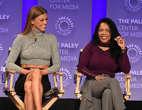 "HOLLYWOOD, CA - MARCH 17: Adrianne Palicki and Penny Johnson at the PaleyFest 2018 - ""The Orville"" panel at the Dolby Theatre on March 17, 2018 in Hollywood, California. (Photo by Scott Kirkland/Fox/PictureGroup)"