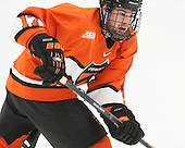 Garrett Skrbich (Princeton - 17) - The Harvard University Crimson defeated the visiting Princeton University Tigers 5-0 on Harvard's senior night on Saturday, February 28, 2015, at Bright-Landry Hockey Center in Boston, Massachusetts.