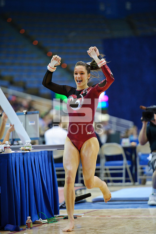 LOS ANGELES, CA - January 9.  Stanford's Nicole Pechanec during the Pac-10 Showcase at UCLA.  Stanford won the seven-team match.