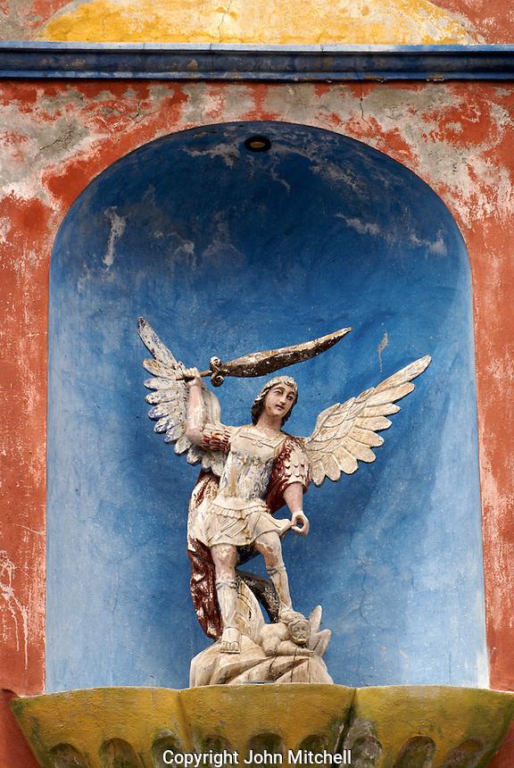 Sculpture of Saint Michael Archangel in San Miguel de Allende, Mexico