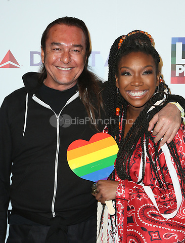 WEST HOLLYWOOD, CA June 11- Brandy, Nick Chavez, at LA PRIDE 2017 at West Hollywood Park, California on June 11, 2017. Credit: Faye Sadou/MediaPunch