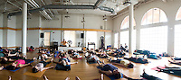 Saul Davide Raye's class at Exhale Center for Sacred Movement. Venice Beach, Los Angeles California US