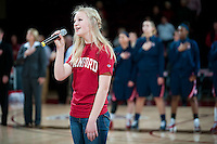 STANFORD, CA - JANUARY 6: National anthem at Maples Pavilion, January 6, 2011 in Stanford, California.