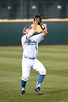 Nick Valaika (4) of the of UCLA Bruins waits to catch a pop fly during a game against the University of San Diego Toreros at Jackie Robinson Stadium on March 4, 2017 in Los Angeles, California.  USD defeated UCLA, 3-1. (Larry Goren/Four Seam Images)
