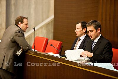 Genève, le 28.10.2010.grand conseil 2010.J.-P. Di Silvestro/ Le Courrier