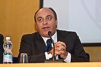 PESCARA (PE) 08/02/2013: ELEZIONI POLITICHE 2013, ANGELINO ALFANO INCONTRA I DIRIGENTI DEL PDL ABRUZZO A PESCARA PRESSO IL MUSEO DELLE GENTI. NELLA FOTO IL COORDINATORE REGIONALE DEL PDL FILIPPO PICCONE.  FOTO ADAMO DI LORETO