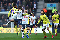 Blackburn Rovers' Kasey Palmer and Preston North End's Ben Pearson<br /> <br /> Photographer Rachel Holborn/CameraSport<br /> <br /> The EFL Sky Bet Championship - Preston North End v Blackburn Rovers - Saturday 24th November 2018 - Deepdale Stadium - Preston<br /> <br /> World Copyright © 2018 CameraSport. All rights reserved. 43 Linden Ave. Countesthorpe. Leicester. England. LE8 5PG - Tel: +44 (0) 116 277 4147 - admin@camerasport.com - www.camerasport.com