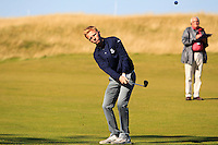 Keith Bowman (AM) on the 11th fairway during Round 1 of the 2015 Alfred Dunhill Links Championship at Kingsbarns in Scotland on 1/10/15.<br /> Picture: Thos Caffrey | Golffile