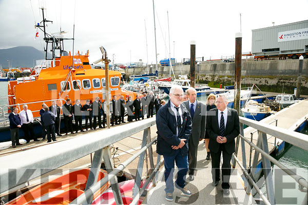 Prince Edward, Duke of Kent,  visited  the RNLI Lifeboat station in Fenit on Tuesday with Tom McCormack and Gerard O'Donnell (Lifeboat Operations Manager)