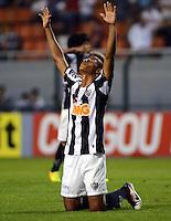 SAO PAULO SP, 14 Julho 2013 - Corinthians x Atletico MG.   Jogadores do Atletico comemoram apos  partida valida pela setima rodada do campeonato brasileiro de 2013  no Estadio do Pacaembu em  Sao Paulo, neste domingo , 14. (FOTO: ALAN MORICI / BRAZIL PHOTO PRESS).