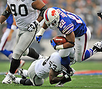 21 September 2008: Buffalo Bills' running back Fred Jackson gains 7 yards in the third quarter against the Oakland Raiders at Ralph Wilson Stadium in Orchard Park, NY. The Bills rallied for 10 unanswered points in the 4th quarter to defeat the Raiders 24-23 marking their first 3-0 start of the season since 1992...Mandatory Photo Credit: Ed Wolfstein Photo