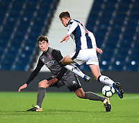 Lincoln City U18's Gianluca Bucci vies for possession with  West Bromwich Albion U18's Taylor Gardner-Hickman<br /> <br /> Photographer Andrew Vaughan/CameraSport<br /> <br /> FA Youth Cup Round Three - West Bromwich Albion U18 v Lincoln City U18 - Tuesday 11th December 2018 - The Hawthorns - West Bromwich<br />  <br /> World Copyright &copy; 2018 CameraSport. All rights reserved. 43 Linden Ave. Countesthorpe. Leicester. England. LE8 5PG - Tel: +44 (0) 116 277 4147 - admin@camerasport.com - www.camerasport.com