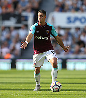 West Ham United's Javier Hernandez<br /> <br /> Photographer Rob Newell/CameraSport<br /> <br /> The Premier League - Newcastle United v West Ham United - Saturday 26th August 2017 - St James' Park - Newcastle<br /> <br /> World Copyright &copy; 2017 CameraSport. All rights reserved. 43 Linden Ave. Countesthorpe. Leicester. England. LE8 5PG - Tel: +44 (0) 116 277 4147 - admin@camerasport.com - www.camerasport.com