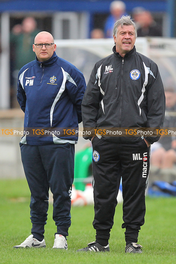 Romford manager Paul Martin (R) and assistant Mark Lord - Grays Athletic vs Romford - FA Cup 1st Qualifying Round Football at Mill Field, Aveley FC - 15/09/13 - MANDATORY CREDIT: Gavin Ellis/TGSPHOTO - Self billing applies where appropriate - 0845 094 6026 - contact@tgsphoto.co.uk - NO UNPAID USE