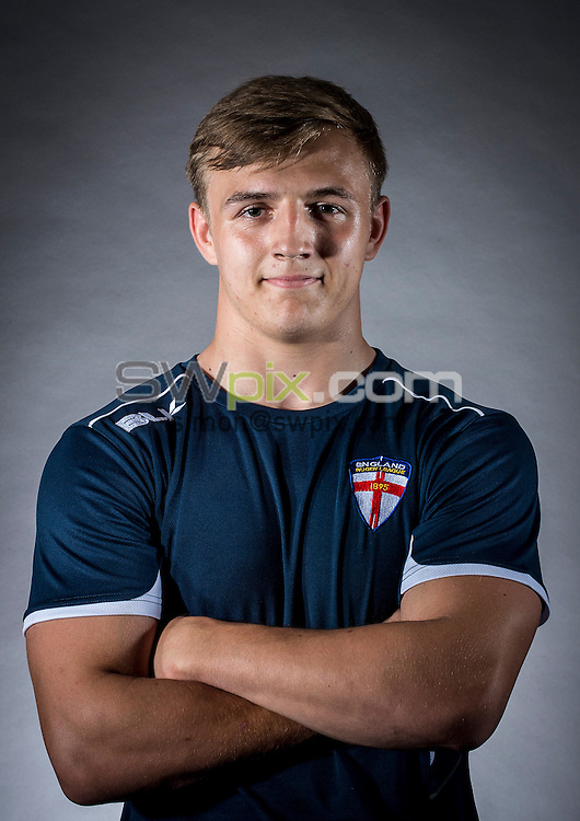 Picture by Allan McKenzie/SWpix.com - 29/06/16 - Rugby League - England Rugby League Academy Headshots - Challenge4Change, Manchester, England - Liam Walsh.