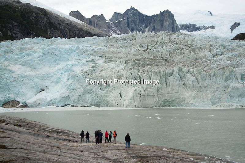 Massive Pia Glacier of the Darwin Mountain Range in Tierra del Fuego in Patagonia Chile