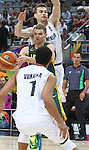 07.09.2014. Barcelona, Spain. 2014 FIBA Basketball World Cup, round of 16. Picture show R. Seibutis  in action during game between New Zealand   v  Lithuania at Palau St. Jordi