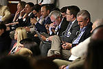 Hundreds of lobbyists and other spectators listen to a passionate two-hour Assembly floor debate as lawmakers considered Gov. Brian Sandoval's $1.1 billion tax plan at the Legislative Building in Carson City, Nev., on Sunday, May 31, 2015. The Assembly approved the bill 30-10. <br /> Photo by Cathleen Allison