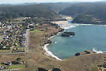 Aerial views of Mendocino Village on the Mendocino Coast