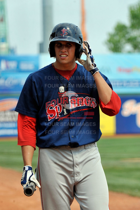 Lowell Spinners third baseman Garin Cecchini #17 during game against the Brooklyn Cyclones at MCU Park on July 18, 2011 in Brooklyn, NY.  Lowell defeated Brooklyn 11-5.  Tomasso DeRosa/Four Seam Images
