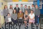 AWARDS: Some Students, Committee, Teachers and guest speaker at the Achievements Awards at the Tarbert Comprehensive School on Thursday night. Front l-r: Laura Lavery, Rachel McEnery, Maidhc Danin OSe, Elaine Fitzgerald and Emma Kavanagh. Back l-r: Una Fitzmaurice, Ann OSullivan, Kevin OKeeffe, Andrew McNamara, Eoin Hanrahan, Yvonne OBrien, Michael Garvey and Katie OConnor..