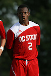 04 September 2009: NC State's Korede Aiyegbusi (ENG). The North Carolina State University Wolfpack defeated the University of Denver Pioneers 4-0 at Koskinen Stadium in Durham, North Carolina in an NCAA Division I Men's college soccer game.