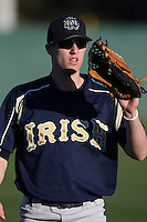 February 26, 2010:  Charlie Markson of the Notre Dame Fighting Irish during the Big East/Big 10 Challenge at Jack Russell Stadium in Clearwater, FL.  Photo By Mike Janes/Four Seam Images