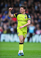 Freddie Burns of Leicester Tigers. Anglo-Welsh Cup Final, between Exeter Chiefs and Leicester Tigers on March 19, 2017 at the Twickenham Stoop in London, England. Photo by: Patrick Khachfe / JMP