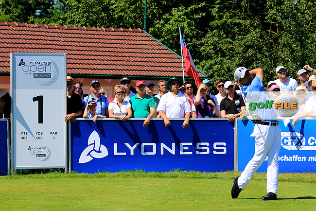 Felipe Aguilar (CHI) in action during the final round of the Lyoness Open powered by Organic+ played at Diamond Country Club, Atzenbrugg, Austria. 8-11 June 2017.<br /> 11/06/2017.<br /> Picture: Golffile   Phil Inglis<br /> <br /> <br /> All photo usage must carry mandatory copyright credit (&copy; Golffile   Phil Inglis)