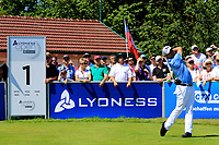 Felipe Aguilar (CHI) in action during the final round of the Lyoness Open powered by Organic+ played at Diamond Country Club, Atzenbrugg, Austria. 8-11 June 2017.<br /> 11/06/2017.<br /> Picture: Golffile | Phil Inglis<br /> <br /> <br /> All photo usage must carry mandatory copyright credit (&copy; Golffile | Phil Inglis)