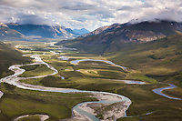 Alatna River flows out of the Brooks Range in Arctic, Alaska.