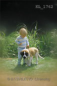 Interlitho, CHILDREN, photos, boy, dog(KL1762,#K#) Kinder, niños