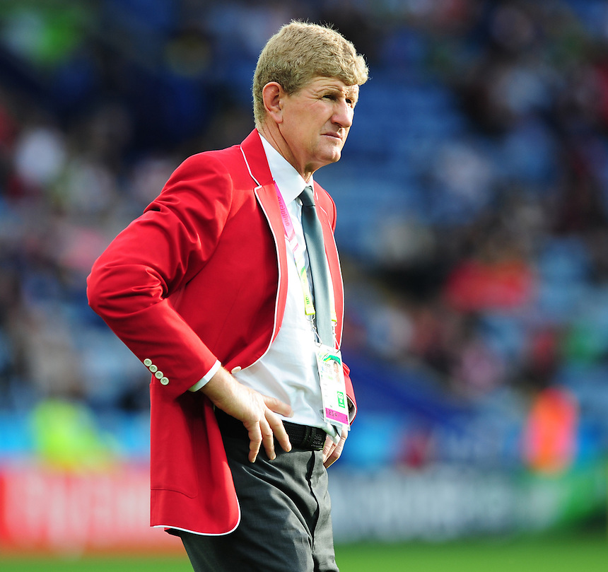 Canada coach Neil Barnes<br /> <br /> Photographer Chris Vaughan/CameraSport<br /> <br /> Rugby Union - 2015 Rugby World Cup Pool D - Canada v Romania - Tuesday 6th October 2015 - King Power Stadium, Leicester <br /> <br /> &copy; CameraSport - 43 Linden Ave. Countesthorpe. Leicester. England. LE8 5PG - Tel: +44 (0) 116 277 4147 - admin@camerasport.com - www.camerasport.com