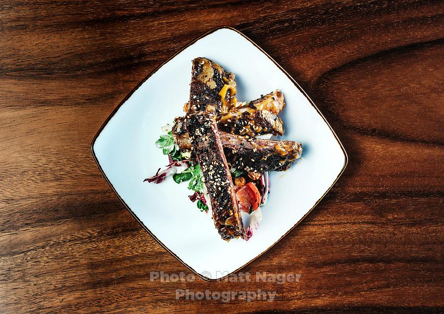 Lamb ribs at El Five restaurant in Denver, Colorado, Wednesday, October 18, 2017. <br /> <br /> Photo by Matt Nager