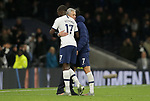 Tottenham's Head Coach Jose Mourinho hugs Moussa Sissoko and Son Heung-min after the Premier League match at the Tottenham Hotspur Stadium, London. Picture date: 30th November 2019. Picture credit should read: Paul Terry/Sportimage