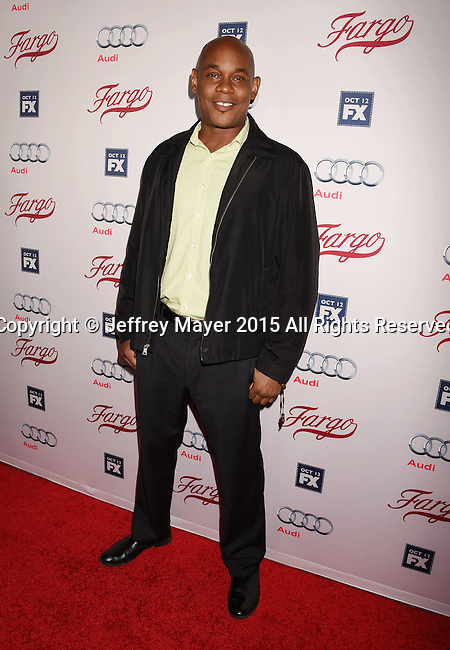 HOLLYWOOD, CA - OCTOBER 07: Actor Bokeem Woodbine attends the premiere of FX's 'Fargo' Season 2 held at ArcLight Cinemas on October 7, 2015 in Hollywood, California.