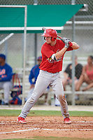 GCL Cardinals catcher Zach Jackson (39) at bat during a game against the GCL Mets on July 23, 2017 at Roger Dean Stadium Complex in Jupiter, Florida.  GCL Cardinals defeated the GCL Mets 5-3.  (Mike Janes/Four Seam Images)