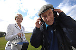 Gaeltacht Tapes handed over; 13-10-06<br /> Muiris Mhaidhc O'Guithin, the last Blasket Islander living in Dun Chaoin listens to an old recording of his voice with Minister for Education Mary Hanafin at the handing over of historic tapes from Radio na gaeltachta to the Blasket Centre in County Kerry on Friday. The compilation incudes interviews with many islanders, former Taoisigh and historic events which were recodred in the Gaeltacht.<br /> Picture by Don MacMonagle