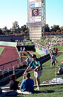 Ballparks: Sacramento Raley Field. View of right field, bullpen, grassy slope. Taken an hour before game time.