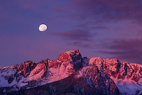 742900383 moonset over the siearra range near bishop creek in the eastern sierras of central california