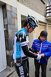 Sylvain Chavanel (FRA) Omega Pharma-Quick Step signs an autograph before the start of the 56th edition of the E3 Harelbeke, Belgium, 22nd  March 2013 (Photo by Eoin Clarke 2013)