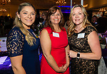 SOUTHINGTON,  CT-092519JS12- Jesica Ortega; Dawn Macharelli  and Michelle Diaz, all with MidState Medical Center, at the 25th Annual Malcolm Baldrige Chamber Awards gala held at the Aquaturf in Southington. The event was hosted by the Waterbury Regional Chamber. <br /> Jim Shannon Republican-American