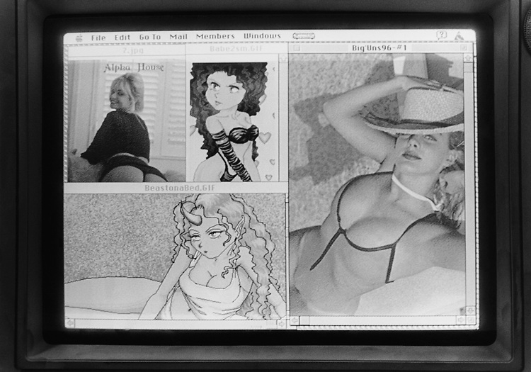 Porn images displayed on computer screen on March 11, 1996. (Photo by Laura Patterson/CQ Roll Call via Getty Images)