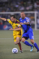 Ned Grabavoy, Ryan Smith #11,..Kansas City Wizards and Real Salt Lake played to a 1-1 tie at Community America Ballpark, Kansas City, Kansas.