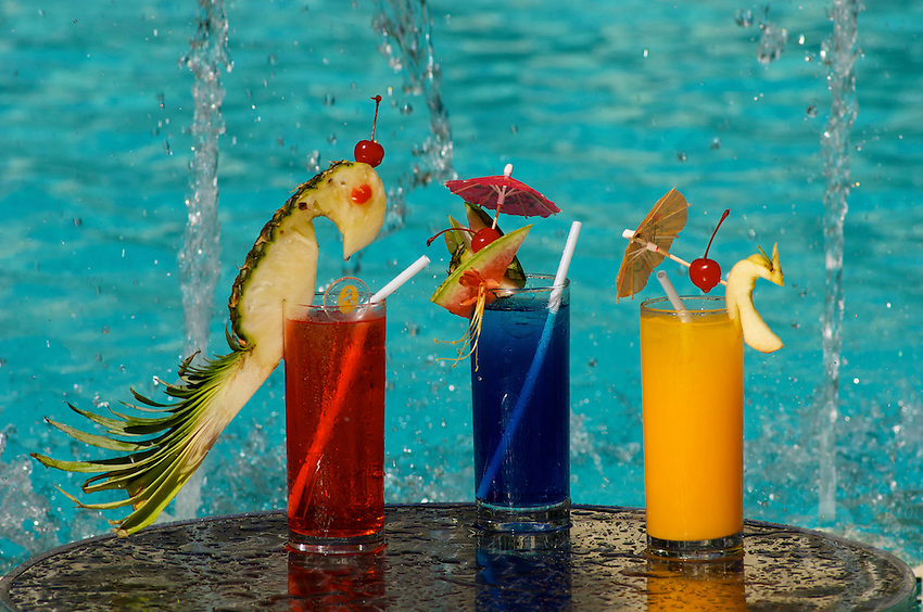 Cool tropical Cocktails at the swimming poolBORACAY ISLAND PHILIPPINES