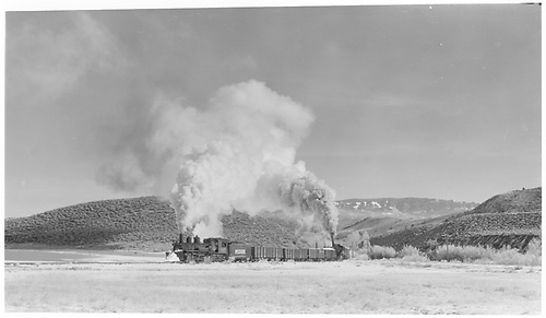 K-27 #461 with mid-train helper working a freight on the Ridgway wye.<br /> RGS  Ridgway, CO  Taken by Richardson, Robert W. - 11/18/1951