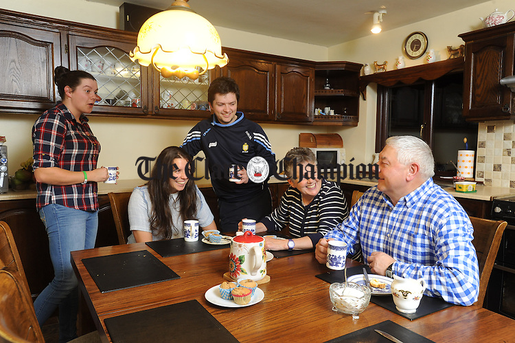 The Mc Mahons; Laura Róisin, Paraic, Veronica and Seanie at home in Newmarket on Fergus. Photograph by John Kelly.