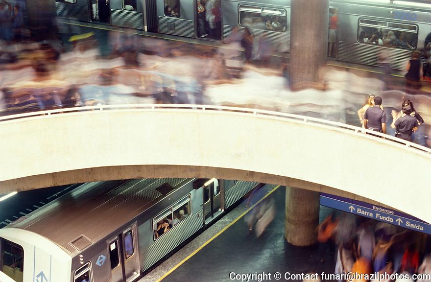 Subway, Sé station, downtown São Paulo, Brazil.
