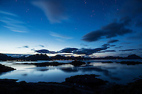 Summer evening twilight, Stamsund, Lofoten Islands, Norway